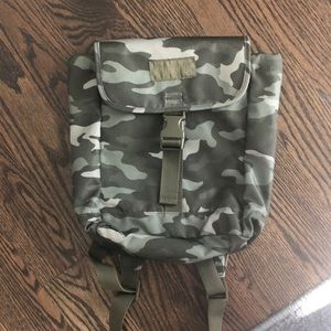 Pink small camo back pack